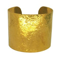 Large Gold Plated Glitterball Cuff by Nikki Galloway