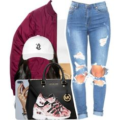 Bryson Tiller / Overtime by nasiaamiraaa on Polyvore featuring Topshop, MICHAEL Michael Kors, Rolex, ASOS, October's Very Own, adidas Originals and NanaOutfits