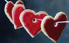 Love can be sweet as Candy ;-) Kerst Bakken, Rode Kerst, Kerstmis, Natuurlijke Kerst, Valentijnsdag Voedsel, Ana Rosa, Hartenjagen, Bricolage, Recepten