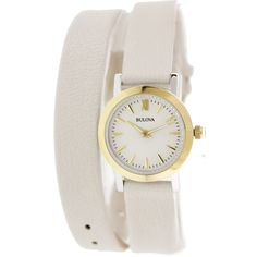 Bulova Women's Classic 98L193 Silver Leather Quartz Watch