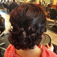 Brunette updo.... find a tutorial on youtube for this one. Pretty