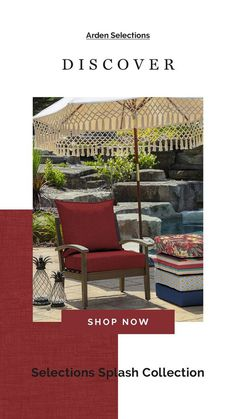 red outdoor cushions