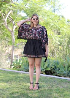 All in the Embroidered Details. cute dress for vacation!