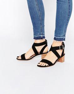 ASOS TEA TIME Mid Heel Sandals