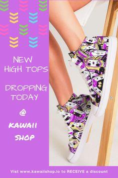 New Kicks launching over at Kawaii HQ #kawaiigirl Kawaii Girl, Summer Shoes, Best Sellers, High Tops, Kicks, Topshop, Product Launch, Lace Up, Mini