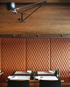 Booth Seating Restaurant Design Interiors Ideas For 2019 Restaurant Design, Architecture Restaurant, Interior Architecture, Restaurant Booth, Banquette Design, Leather Wall Panels, Padded Wall Panels, Booth Seating, Modern Restaurant
