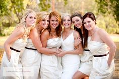 Brenna and her ladies- Image courtesy of Carrie Ekosky Photography www.carriekoskyphotography.ca. Event planning, coordination, rentals, and decor by MWs www.madelinesweddings.com
