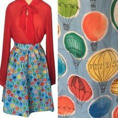 I just added this to my closet on Poshmark: Hot air balloon skirt(bow top not included). Price: $55 Size: Various