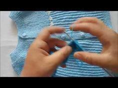 Şiş örgü,Yandan örülen, Bebek hırkasıModeli - YouTube