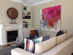 Interior styled by Lisa Gole, painting by Michelle Breton from Thierry B. Fine Arts.
