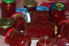 Retete Culinare - Dulceata de ardei iute Ketchup, Salsa, Jar, Fish, Canning, Pisces, Salsa Music, Jars, Glass