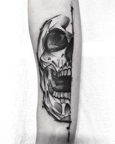 Skeleton Tattoos, Skull Tattoos, Arm Tattoos, Body Art Tattoos, Sleeve Tattoos, Cool Tattoos, Tatoos, Type Tattoo, Gothic Tattoo