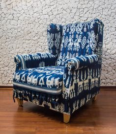 Original Sumbanese Ikat Chair $2,200.00 USD by BirBor, based in Denpasar, Bali, and selling on Etsy