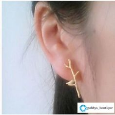Gold stick earrings New in packaging.gold plated. No trades Jewelry Earrings
