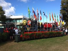 The fan-stand where you get to see all the comings and goings of the Australian Paddock