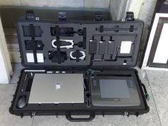 I want this case. Diy Electronics, Electronics Projects, Computer Setup, Computer Lab, Cool Tech, Camera Gear, Tech Gadgets, Tactical Gear, Survival Gear