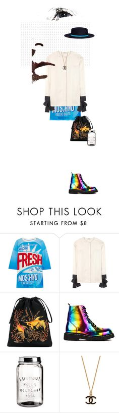 """""""One Of A Kind"""" by cultofsharon ❤ liked on Polyvore featuring Moschino, Nina Ricci, Attico, T.U.K., H&M, Sensi Studio, contest and contestentry"""