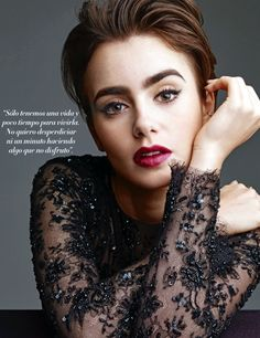 "Lily Collins - New scans of Lily Collins for the magazines ""Liverpool"" from Mexico and ""Hia"" from India."