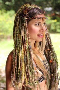 Tribal Wig Goddess Airmid by lotuscircle on Etsy