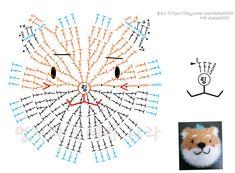 시바 수세미 : 네이버 블로그 Freeform Crochet, Crochet Diagram, Crochet Motif, Diy Crochet, Crochet Stitches, Crochet Stars, Crochet Round, Crochet Flowers, Crochet Applique Patterns Free