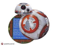 Convite Star Wars BB-8 - Kit com 20
