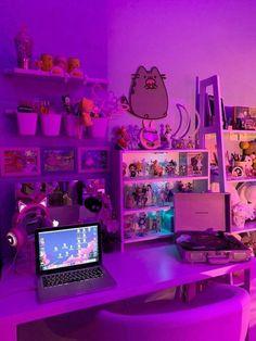 Cute Room Ideas, Cute Room Decor, Neon Bedroom, Bedroom Decor, Bedroom Inspo, Bedroom Ideas, Girl Room, My Room, Otaku Room