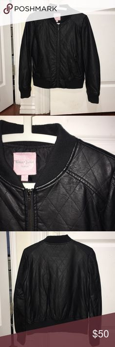 jacket Black leather jacket in good condition no defects Romeo & Juliet Couture Jackets & Coats
