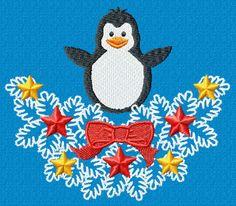 Penguin Machine Embroidery Design