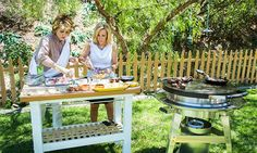 """Home & Family - Episodes - Cristina Cooks Lamb Chops & Fingerling Potatoes In honor of Debbie's baby shower, Cristina and Kym borrow a recipe from the mom-to-be's cookbook, """"It's All Greek to Me."""" She cooks lamb chops and fingerling potatoes on an EVO grill like you would find in a hibachi restaurant."""