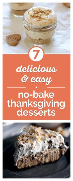 ... no-bake Thanksgiving desserts. From no-bake pumpkin pie to chocolate