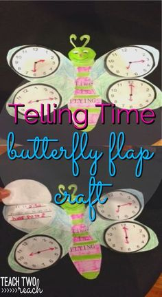 Students create this cute butterfly with different times on clocks on all 4 wings. They life the clock flap and write the time a different way.