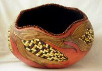 """Gourd DVD - """"How to Make an Indian Corn Bowl,"""" with Carrie Dearing"""