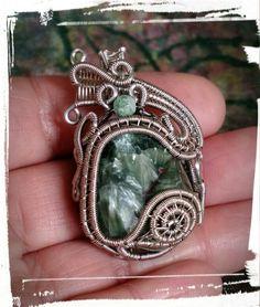 Seraphinite wrapped pendant