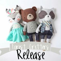 Stuffed animals for easter basket Baby Toys, Kids Toys, Handmade Stuffed Animals, Diy Bebe, Fabric Animals, Fabric Toys, Paper Toys, Sewing Dolls, Cute Toys