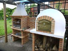 Outdoor Brick Barbecue - garden-cooking-food bbq ***AMIGO OVENS***