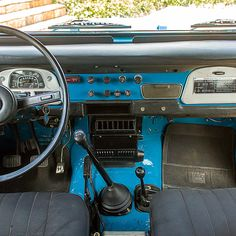 Interior before restoration 1978 Toyota Land Cruiser FJ40 Sky Blue #fjco1978skyblue #toyota #landcruiser #fj40 #fjrestoration