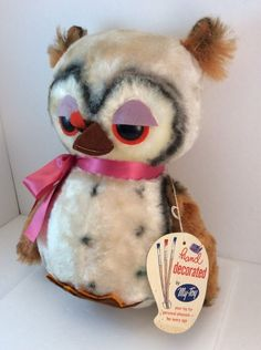 My Toy Owl Vintage Stuffed Plush Hand Decorated With Tags  #Mytoy