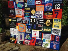 Puzzle Design T Shirt Quilt Memory Quilt Custom Order Quilt You Pick Size - Using Your Shirts - DEPOSIT  Again, seems complicated...