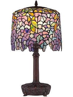 Purple Wisteria Desk Lamp With Art Glass Shade | House of Antique Hardware