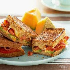 Creamy smoked cheddar, crisp bacon, creamy avocado, and juicy tomato tops honey wheat bread./