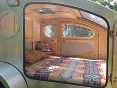 Bedding. the doors, blanket, teardrop campers, beds, interiors, windows, vistabul, bedroom, teardrop trailer