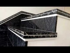 Stairs Tiles Design, Staircase Interior Design, Gate Wall Design, Stair Railing Design, Home Stairs Design, Stairs Architecture, Best Modern House Design, House Front Design, Granite Stairs