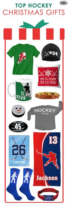 Need help deciding what to buy your hockey player this year? Check out our top gift picks for hockey players this Christmas!  We have everything from personalized beach towels to a personalized bracelet!  Choose from an assortment of products to find the most perfect gift for the important hockey player in your life this holiday!  Only from ChalkTalkSPORTS.com!