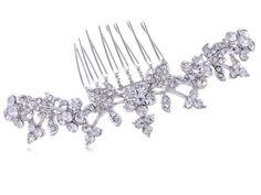 Silvertone Genuine Rhinestone Long Vine of Leaves Flower Fashion Hair Comb Alilang,http://www.amazon.com/dp/B00EKWTYII/ref=cm_sw_r_pi_dp_b-Kmtb04VG2VBVMT