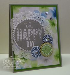 Stampin' Up! Starburst Sayings. Come join us for a Linky Blog Hop. Add your creation from the Occasions Catalog! Debbie Henderson, Debbie's Designs