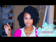 CROCHET BRAIDS| HOW TO CUT AND STYLE CURLKALON CROCHET BRAIDS |CHRISTIAN BYSHE - YouTube