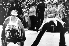 1977 - Bob Hall Becomes the First Person to Complete the Race in a Wheelchair