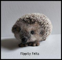Needle felted European Brown Hedgehog for sale