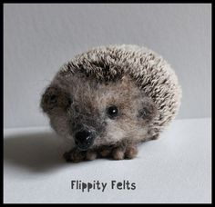 Needle felted European Brown Hedgehog for sale