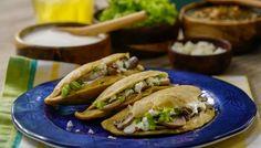 Fried Mushrooms, Stuffed Mushrooms, Cooking Recipes, Healthy Recipes, Easy Recipes, Healthy Food, Mexican Food Recipes, Ethnic Recipes, Quesadilla Recipes